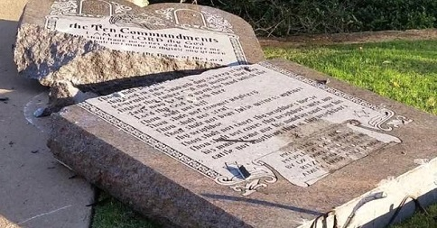 Removed Ten Commandments from Oklahoma capitol