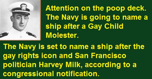 Navy to Name Ship after Gay Child Molester
