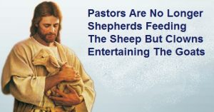 Pastors Are No Longer Shepherds Feeding The Sheep